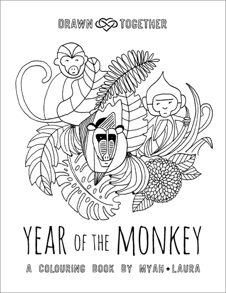 Year of the Monkey Colouring Book